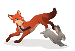 Zootopia | Feral form | Nick and Judy by Anonim911
