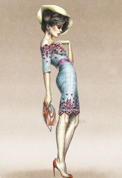 Fashion illustration - Vogue by Tania-S