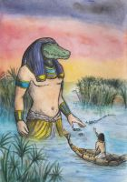 The Crocodile God by AnotherStranger-Me