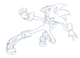 Testing new Sonic style by Fly-Sky-High