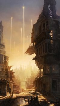 abandoned city by poibuts