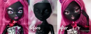 Before and After - Catty Noir Repaint by AndrejA