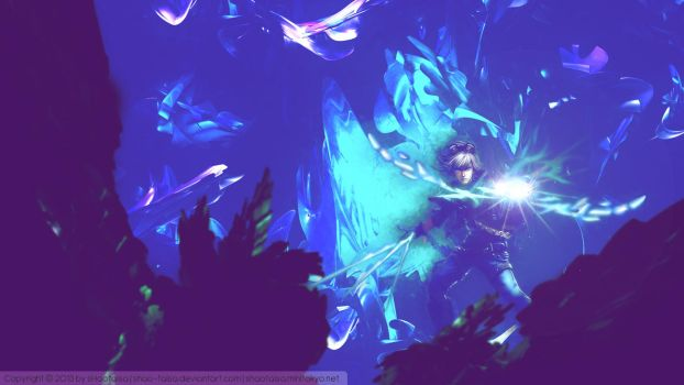 [LoL] Wallpaper - Frosted Ezreal - [redesign] by sHao-taisa
