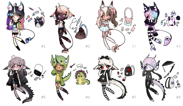 Medi-borg collab adopts: OPEN by kawaii-antagonist