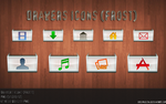 Drawer Icons Frost version PNG by Mheltin