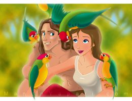 Tarzan and Jane by manony