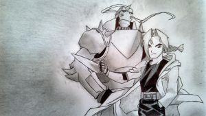 Edward and Alphonse Elric by SketchMaster911