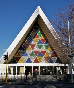New Zealand Day 2 - Cardboard Cathedral by BabakoSen