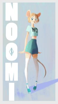 Noomi the mouse by 4leafcloverVN