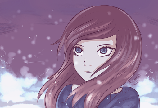 In the winter snow by Talantea