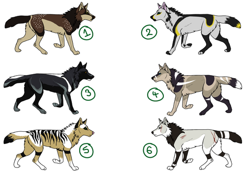 Point Wolf Adopts! Closed by kanvos