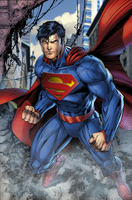 Superman Busting In by SUPERMAN3D