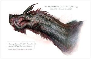 Smaug Head Concept Variant 01 by MIKECORRIERO
