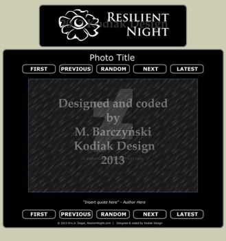 Resilient Night layout by kodiakdesign