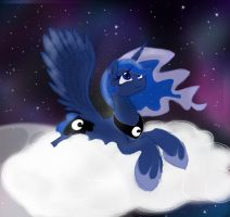 Princess Luna - It's the stars by HiccupsDoesArt