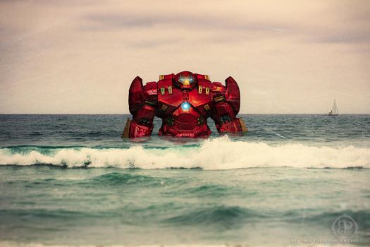 Hulkbuster in the ocean  by BivinsPhotography