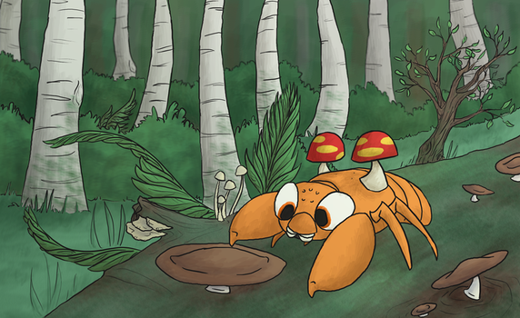 Poking 'shrooms by Sparradile