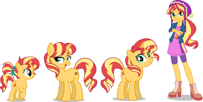 [AU] Sunset Shimmer by LimeDazzle
