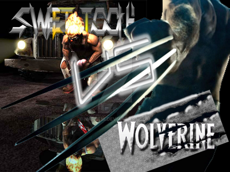 Wolverine vs SweetTooth by narde15