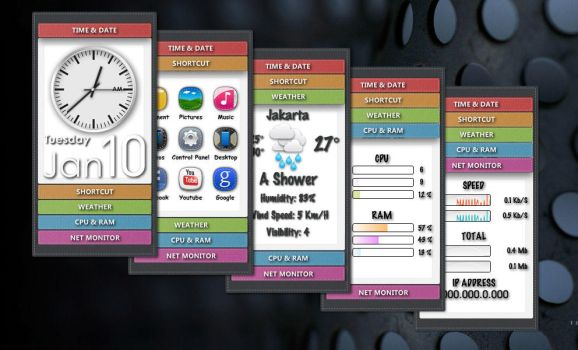 Stitched Panel for XWidget by boyzonet