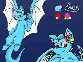NEW Karla Reference Sheet: Sky Protector form by KASAnimation