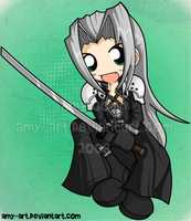 Sephiroth - Final Fantasy 7 by amy-art