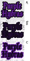 Purple Hydras Word Art Choices by rubberbend