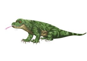Priscus the Megalania by tombola1993