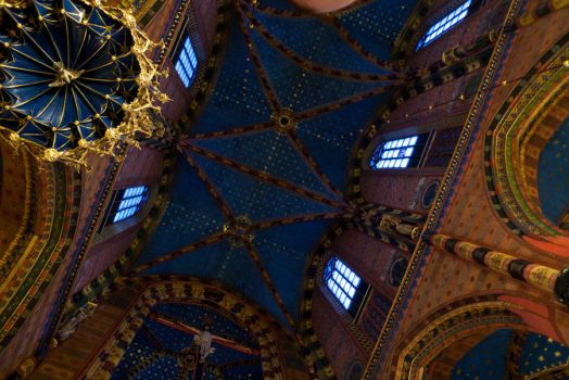 Krakow Cathedral Ceiling by RichOrridge
