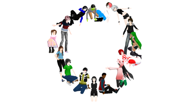 15 Person Poses by slyfan1030