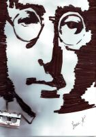 John Lennon Pop Art by ClairBlueArt