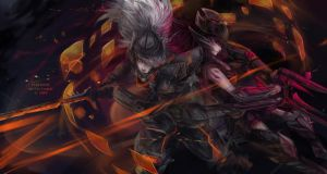 LoL: PROJECT Yasuo and Headhunter Caitlyn by Fiveonthe