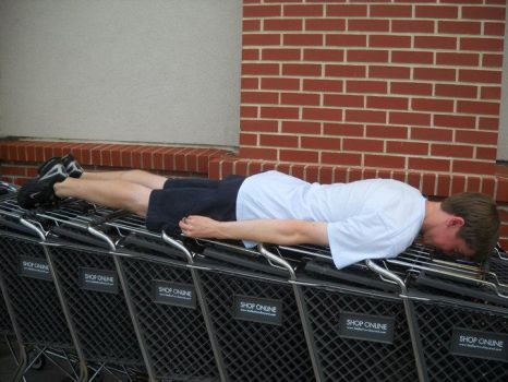 Planking Shopping Carts by Soverence
