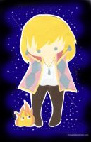 Howl and Calcifer: cut+paste by Choux43