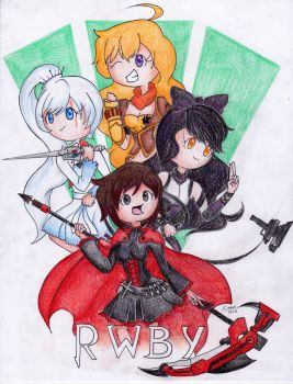 RWBY (Scanned: Colored Pencil) by KyraDraws