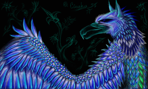 azure griffin by SovaKa