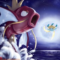 Magikarp and the moon