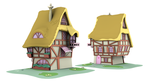 Ponyville Model - OGB_1 (Game/Animation) by discopears