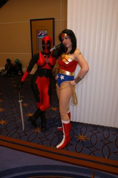 Deadpool Girl and Wonder Woman by Enzera