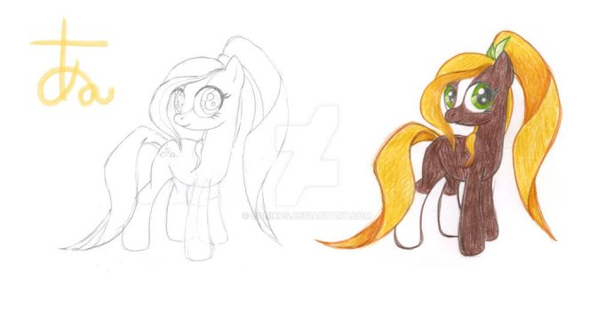 MLP OC : Lingua ( design: outline , colour + CM ) by conikus
