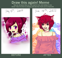 BEFORE AND AFTER MEME by aliza123123