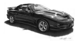 Trans AM Drawing by golfiscool