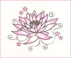 Lotus, lowerback design by sabakunoruby