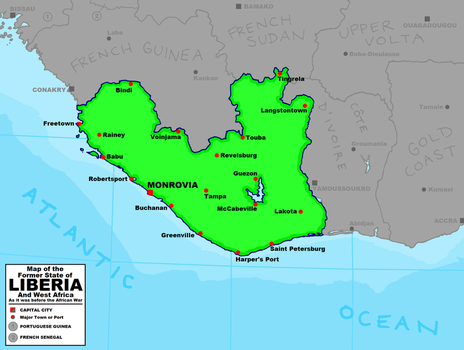 Palimpsest Liberia and Western Africa by tard15