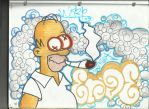 homer stoned by soxygurl