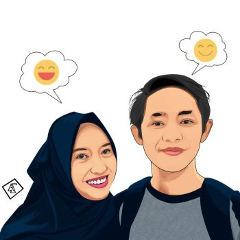 A Simple Vector Portrait by annassetiawan