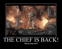 The Chief Is Back by LateNightBandicoot