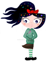 Isabella as Vanellope by Grax99