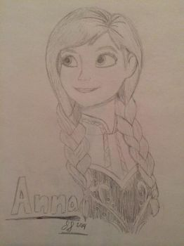 Frozen- Anna by JabuJabule