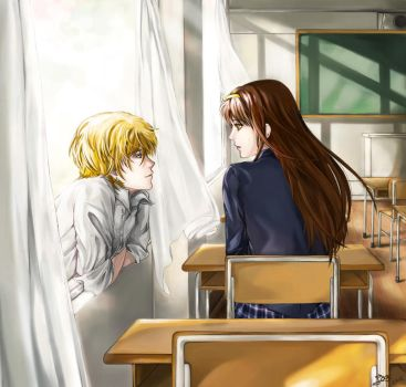 A silent morning in school by Rabbit-Edge
